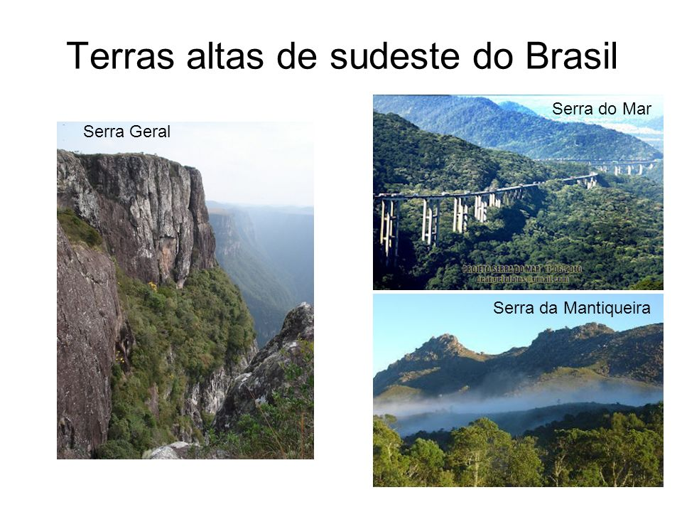 Terras altas de sudeste do Brasil