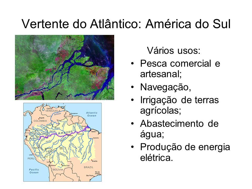 Vertente do Atlântico: América do Sul