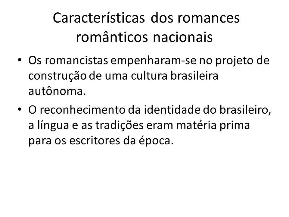 Características dos romances românticos nacionais