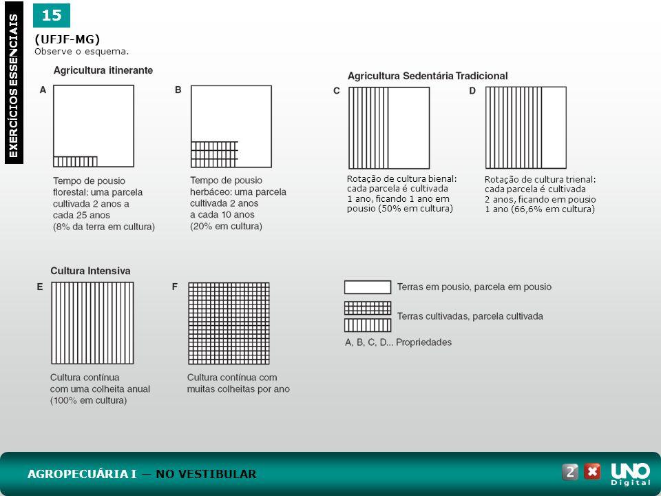 15 Geo-cad-2-top-2 – 3 Prova (UFJF-MG) AGROPECUÁRIA I — NO VESTIBULAR