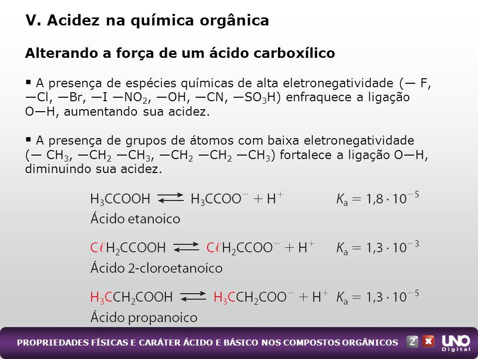 V. Acidez na química orgânica