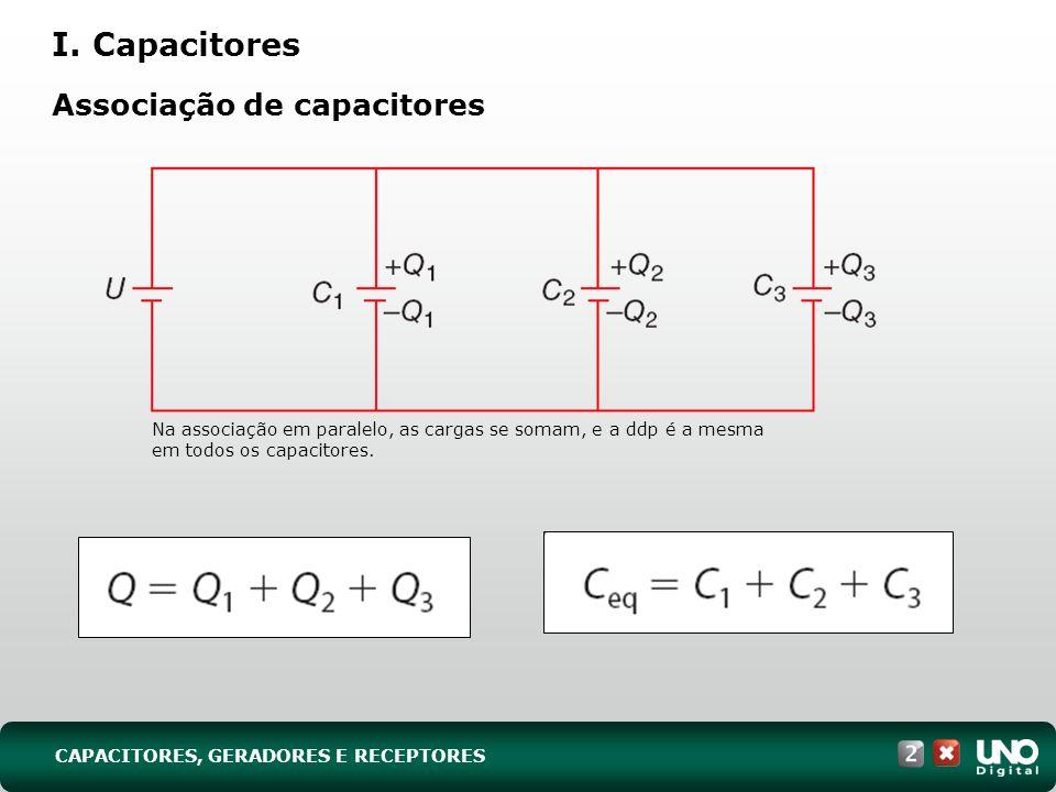 I. Capacitores Associação de capacitores Fis-cad-2-top-7 - 3 prova
