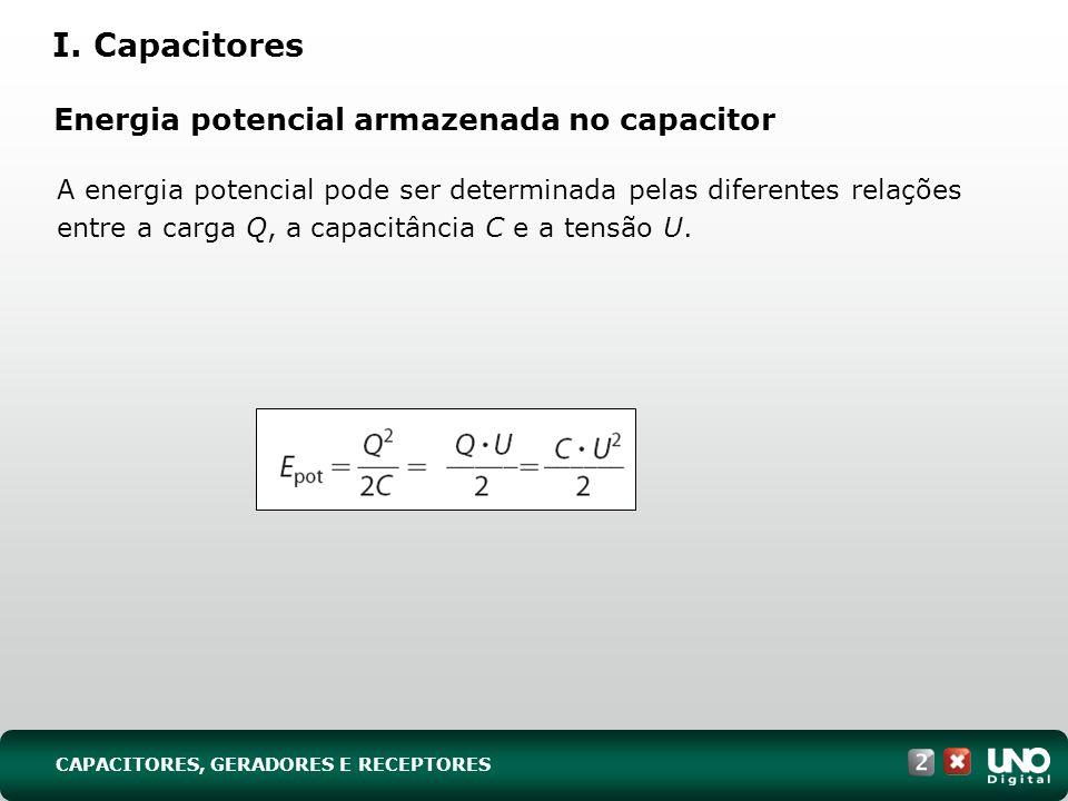 Energia potencial armazenada no capacitor