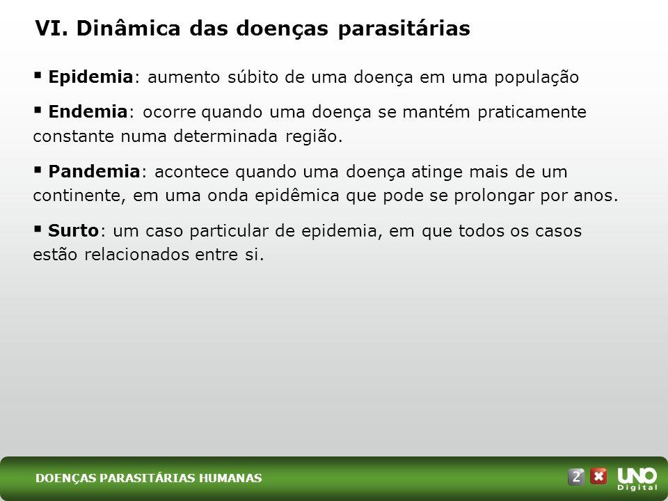VI. Dinâmica das doenças parasitárias