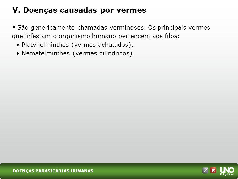 V. Doenças causadas por vermes