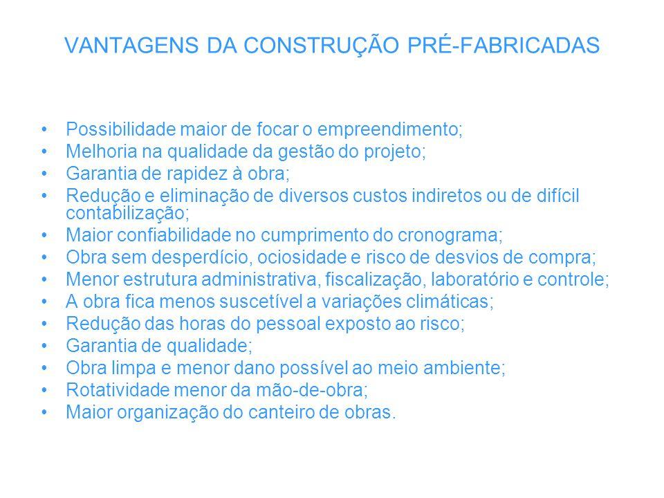 VANTAGENS DA CONSTRUÇÃO PRÉ-FABRICADAS