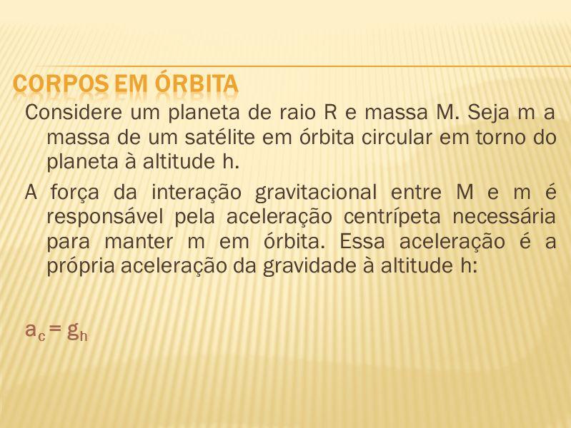 corpos em órbita