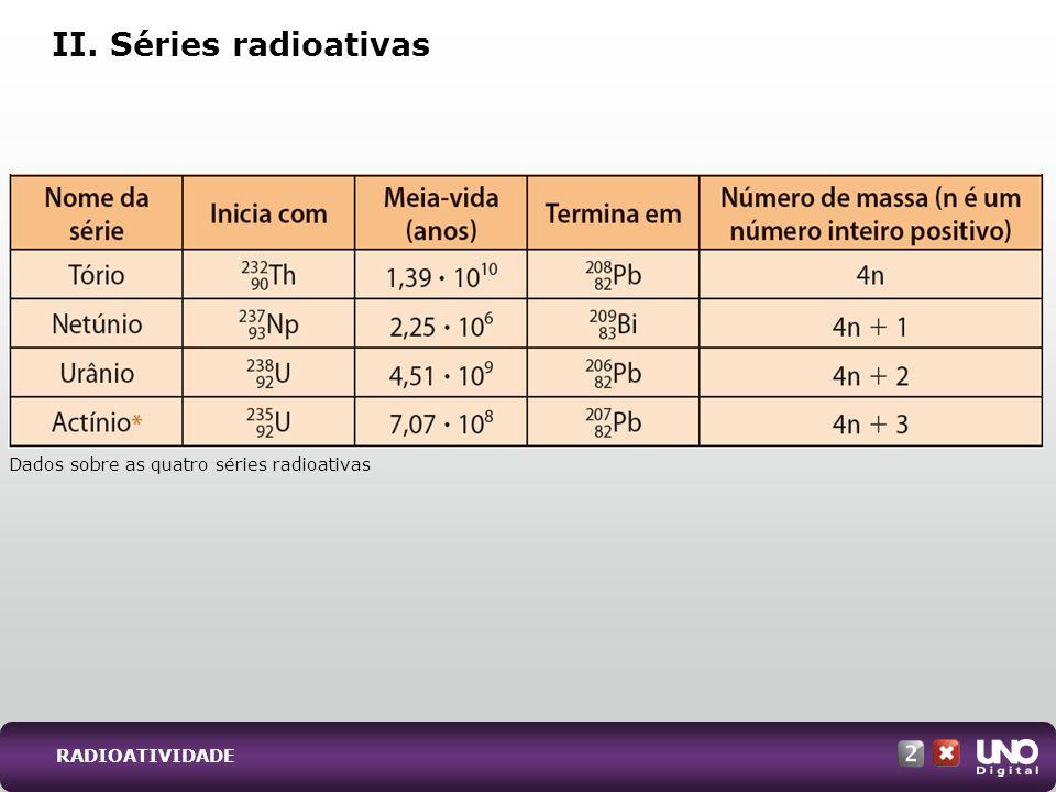 II. Séries radioativas Qui-cad-2-top-3 – 3 Prova