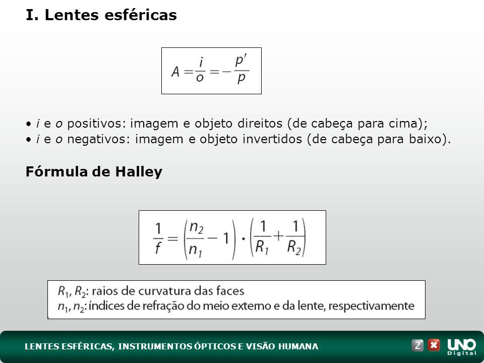 I. Lentes esféricas Fórmula de Halley