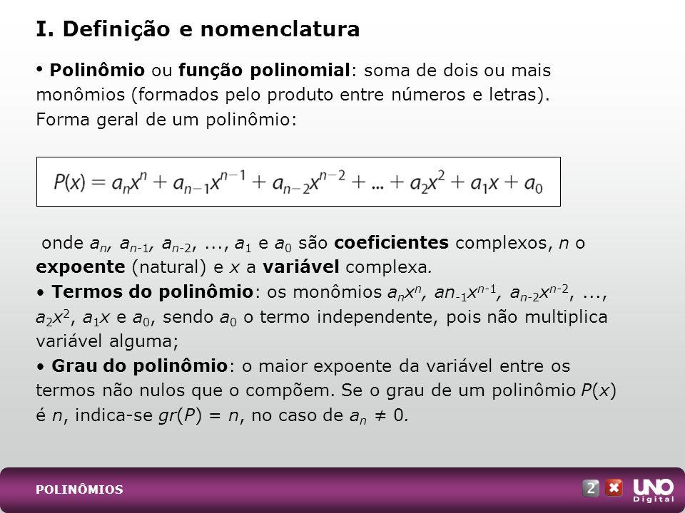 I. Definição e nomenclatura