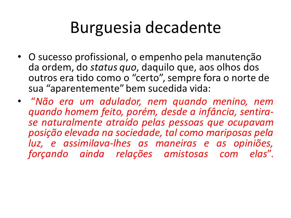 Burguesia decadente
