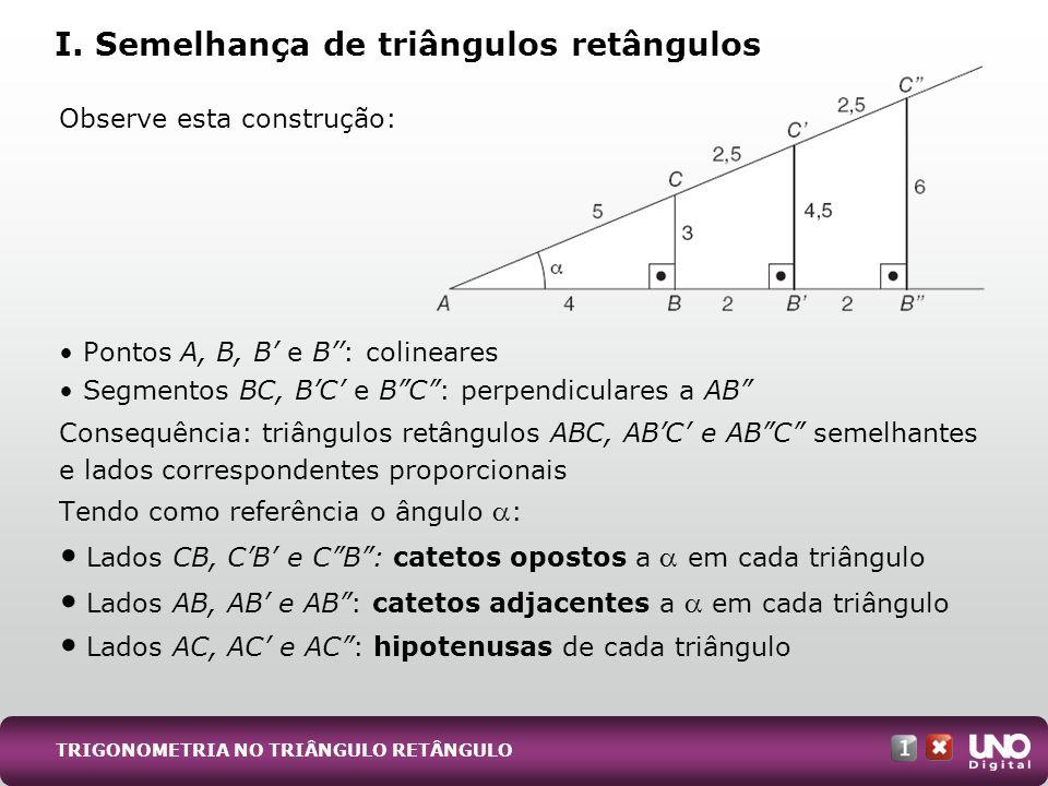 I. Semelhança de triângulos retângulos