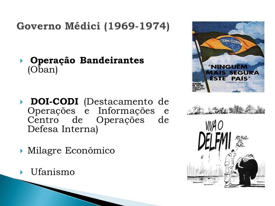 Governo Médici (1969-1974) Operação Bandeirantes (Oban)