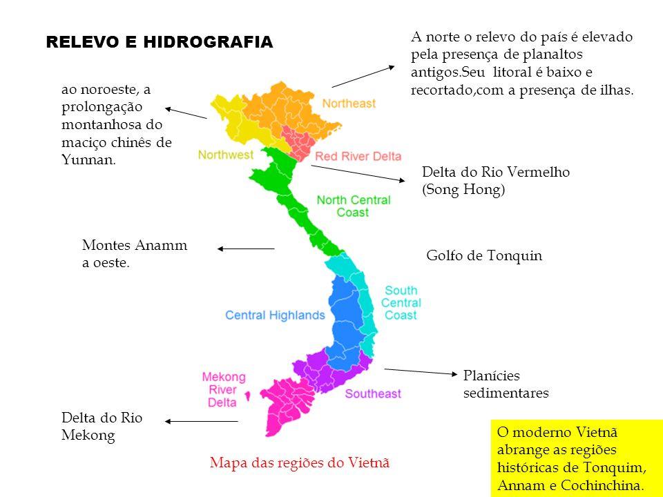 Mapa das regiões do Vietnã