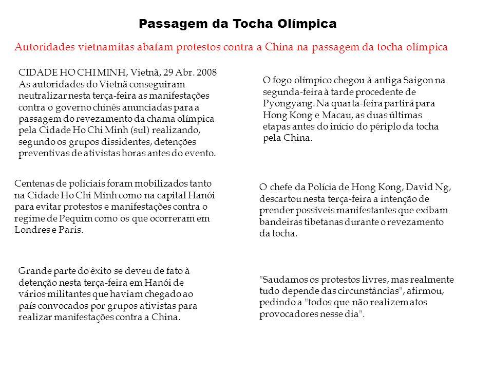 Passagem da Tocha Olímpica