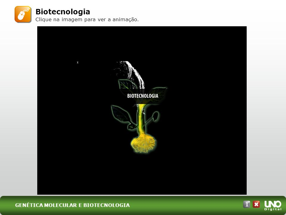 Biotecnologia Clique na imagem para ver a animação.
