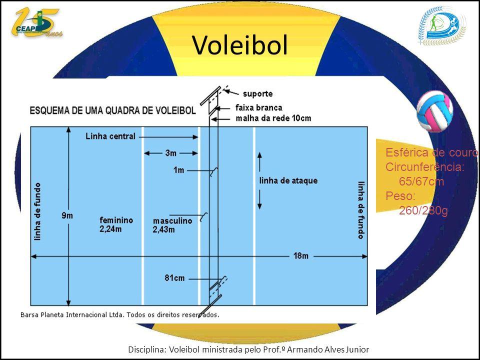 Voleibol Esférica de couro Circunferência: 65/67cm Peso: 260/280g