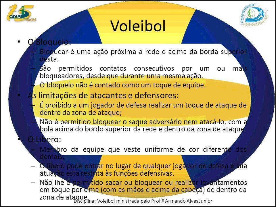 Voleibol O Bloqueio: As limitações de atacantes e defensores: