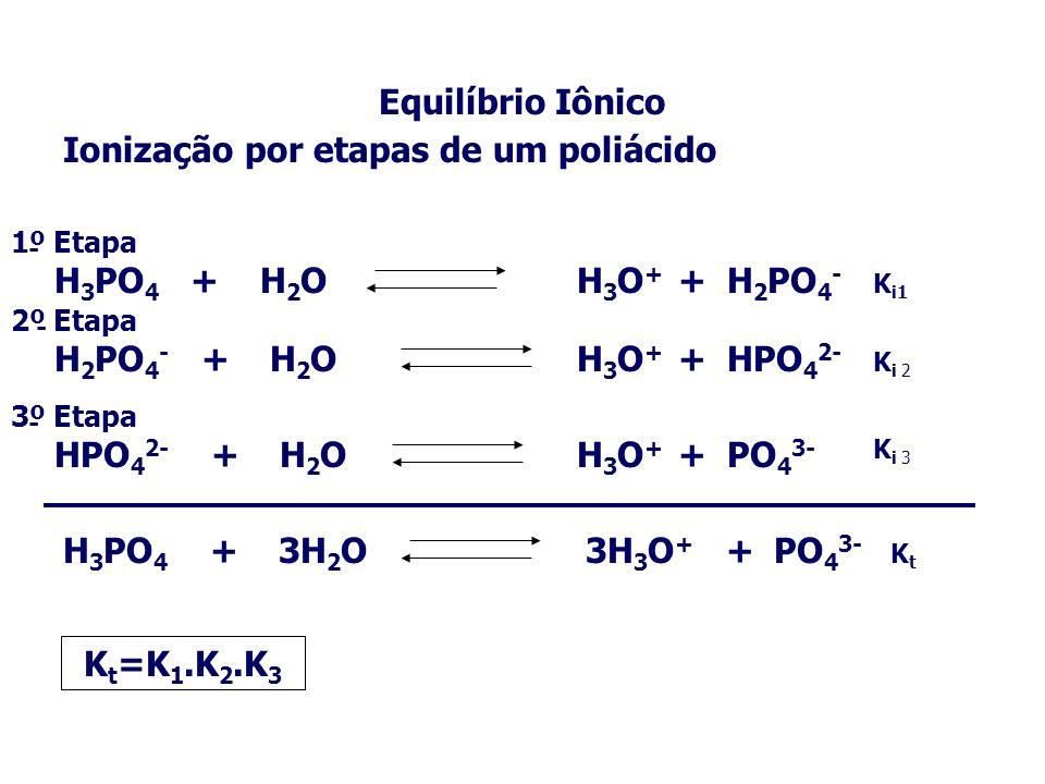 Equilíbrio Iônico Kt=K1.K2.K3