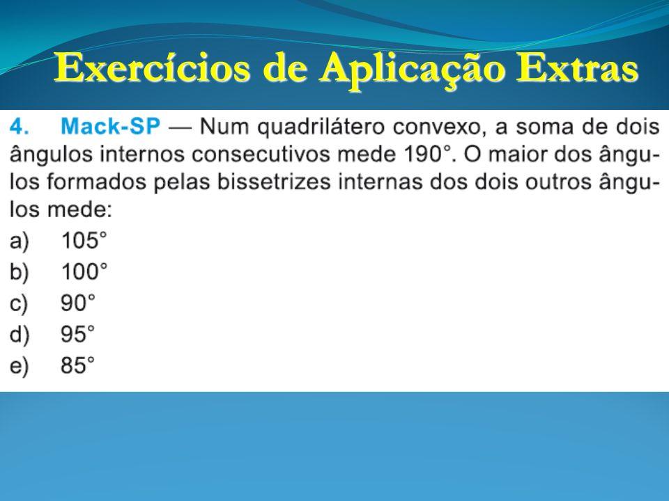 Exercícios de Aplicação Extras