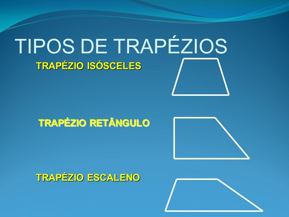 TIPOS DE TRAPÉZIOS TRAPÉZIO ISÓSCELES TRAPÉZIO RETÂNGULO