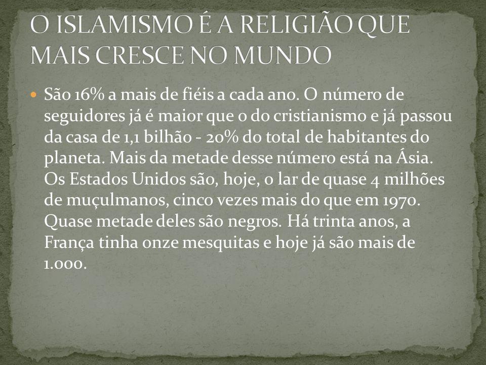O ISLAMISMO É A RELIGIÃO QUE MAIS CRESCE NO MUNDO