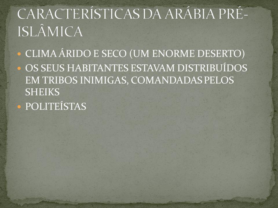CARACTERÍSTICAS DA ARÁBIA PRÉ-ISLÂMICA