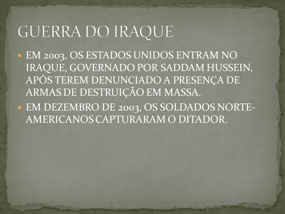 GUERRA DO IRAQUE