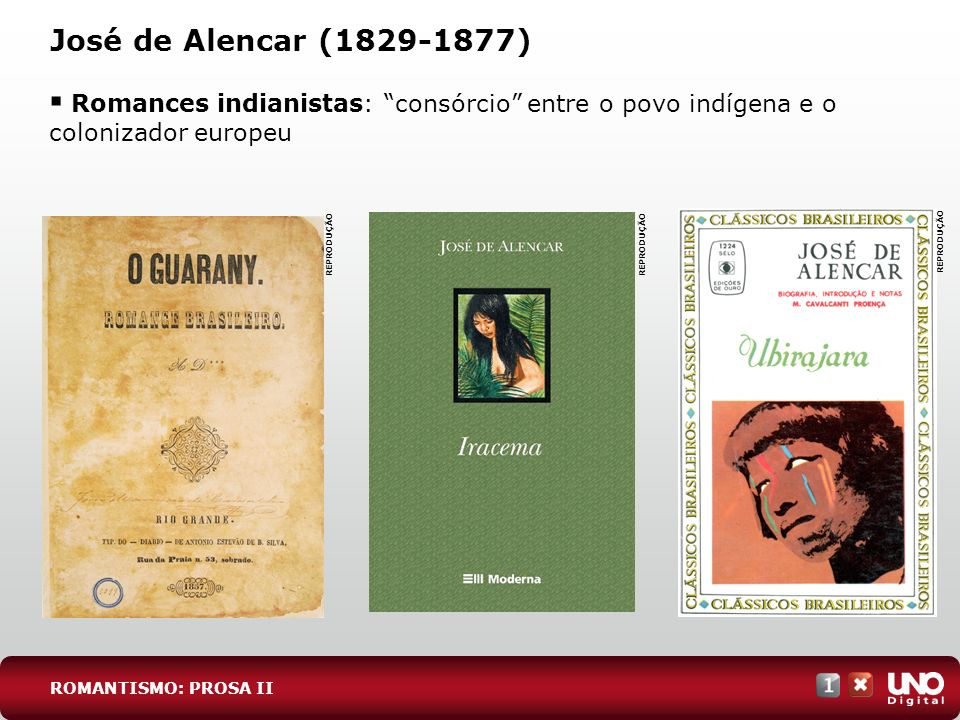 Lit-cad-1-top-4 - 3 prova José de Alencar (1829-1877) Romances indianistas: consórcio entre o povo indígena e o colonizador europeu.