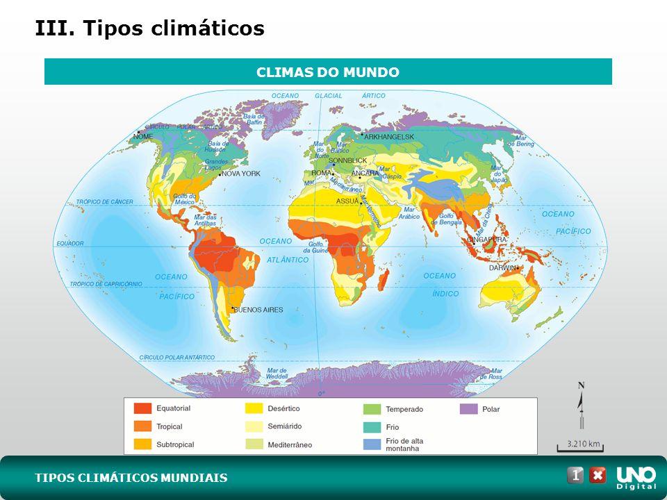 III. Tipos climáticos CLIMAS DO MUNDO Geo-cad-1-top-4- 3 prova