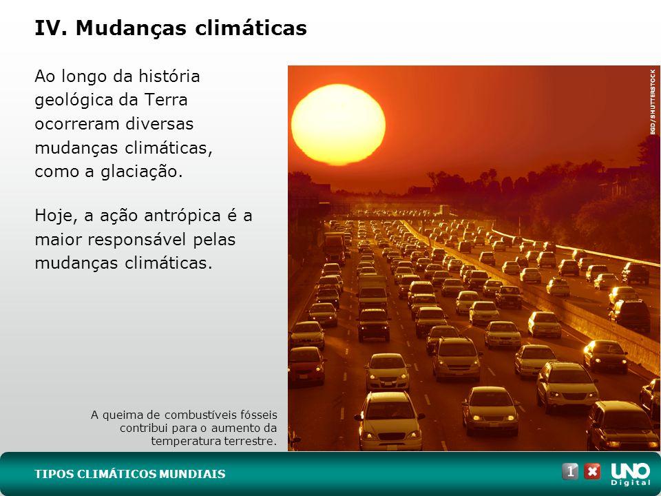 IV. Mudanças climáticas