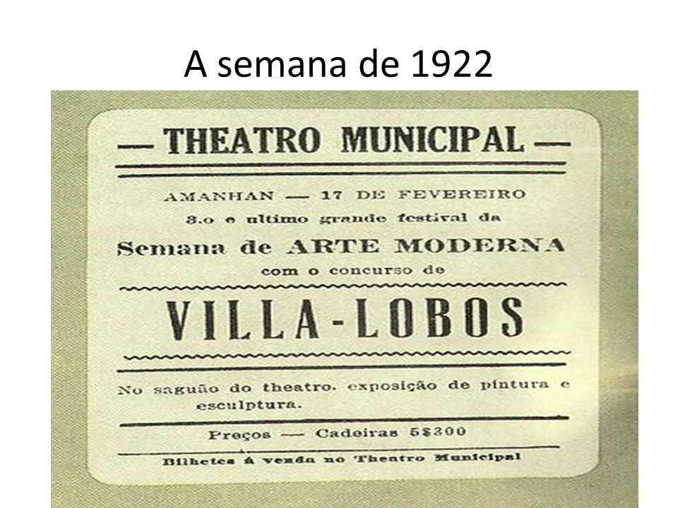 A semana de 1922