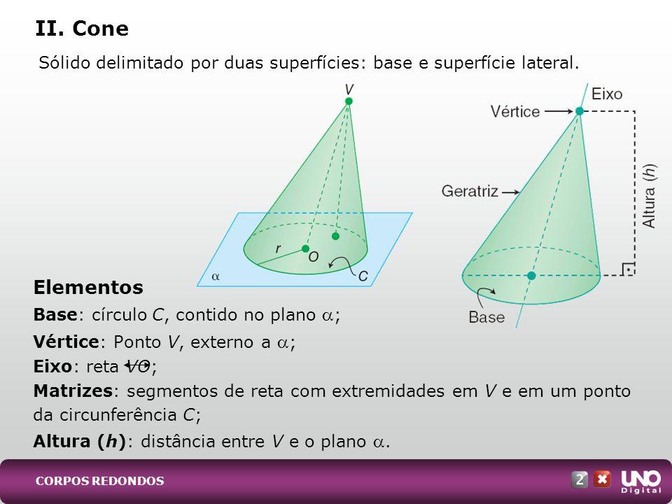 Mat-cad-2-top-5 – 2 Prova II. Cone. Sólido delimitado por duas superfícies: base e superfície lateral.