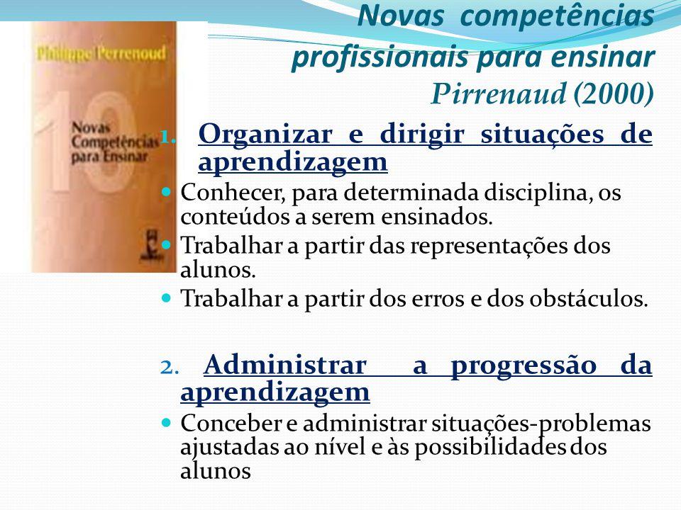 Novas competências profissionais para ensinar Pirrenaud (2000)