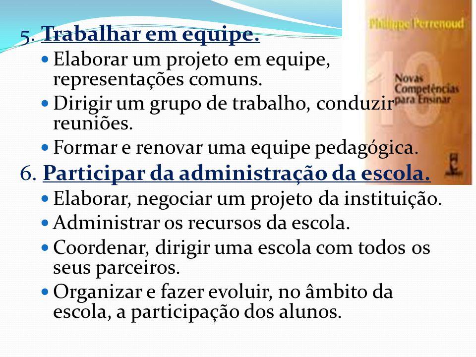 6. Participar da administração da escola.