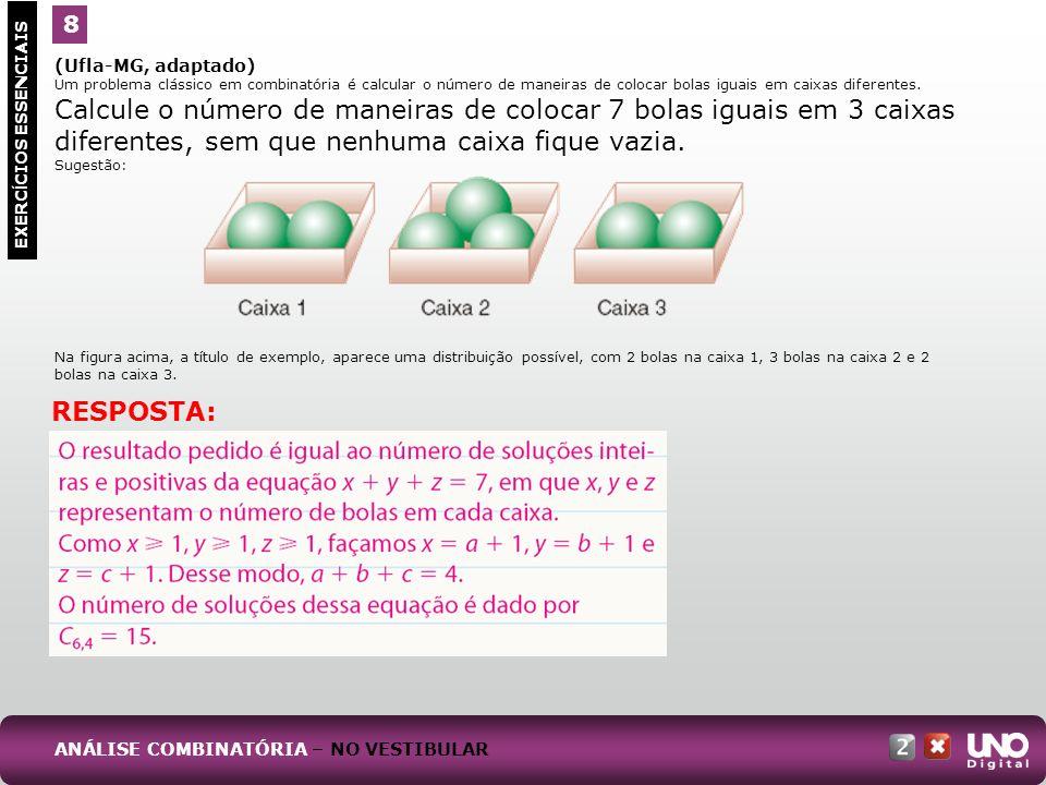 RESPOSTA: 8 Mat-cad2-top-2 –3 Prova (Ufla-MG, adaptado)