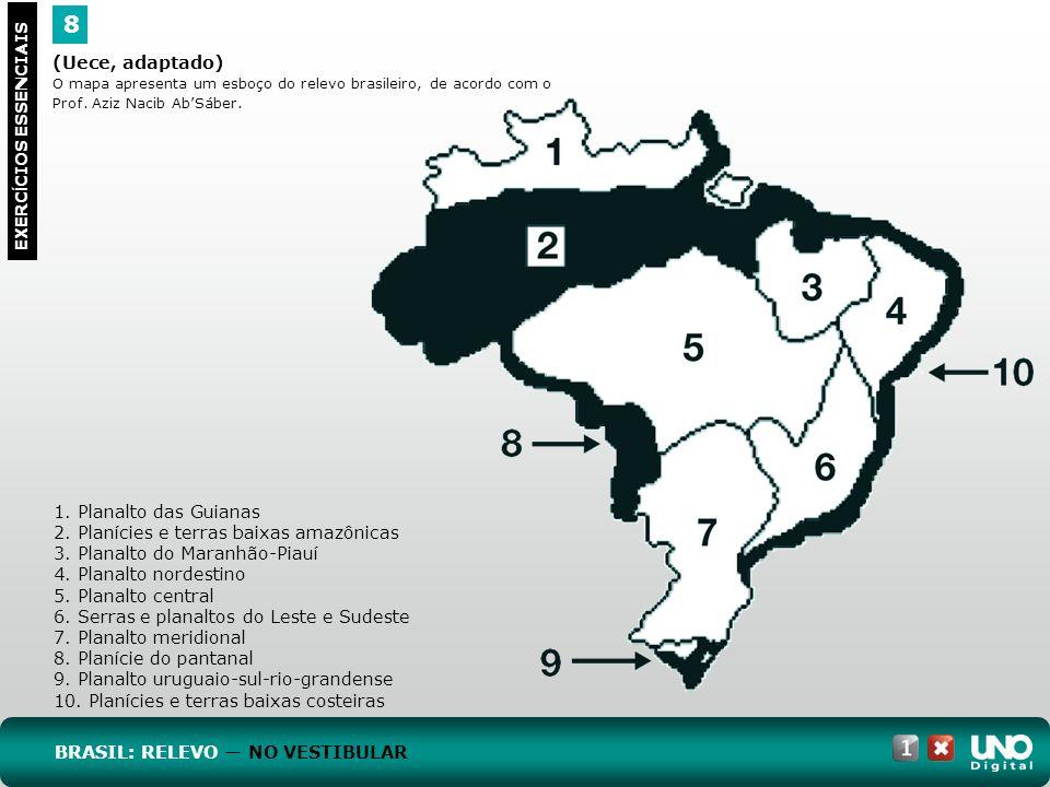 8 Geo-cad-1-top-2- 3 prova (Uece, adaptado) 1. Planalto das Guianas