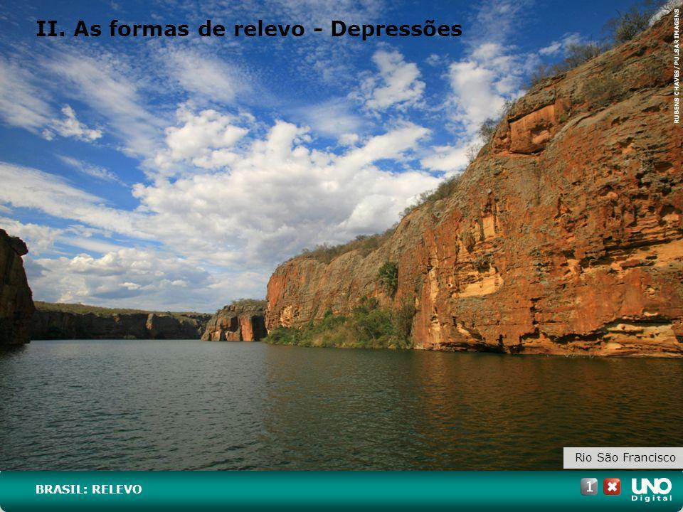 II. As formas de relevo - Depressões