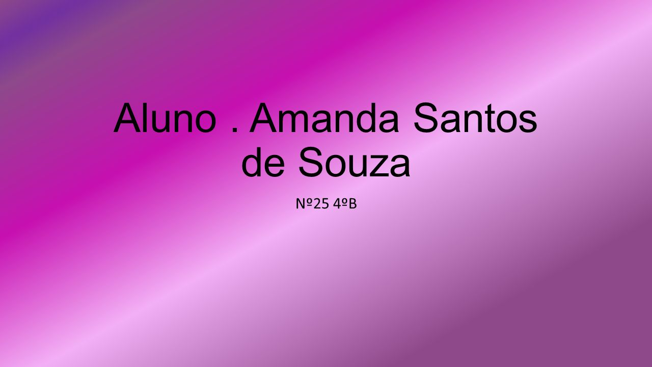 Aluno . Amanda Santos de Souza