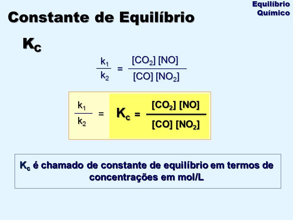Constante de Equilíbrio KC
