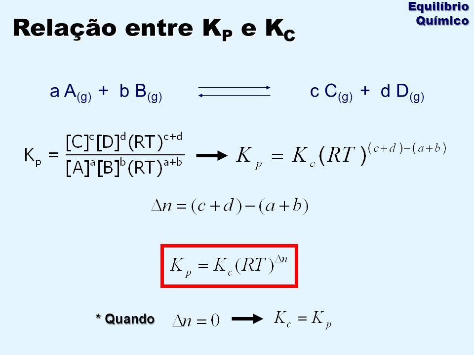 a A(g) + b B(g) c C(g) + d D(g)