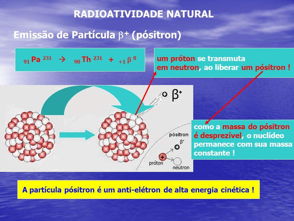 A partícula pósitron é um anti-elétron de alta energia cinética !