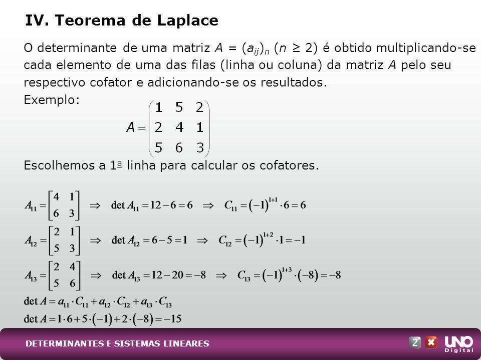 Mat-cad-2-top-1- 3 Prova IV. Teorema de Laplace.