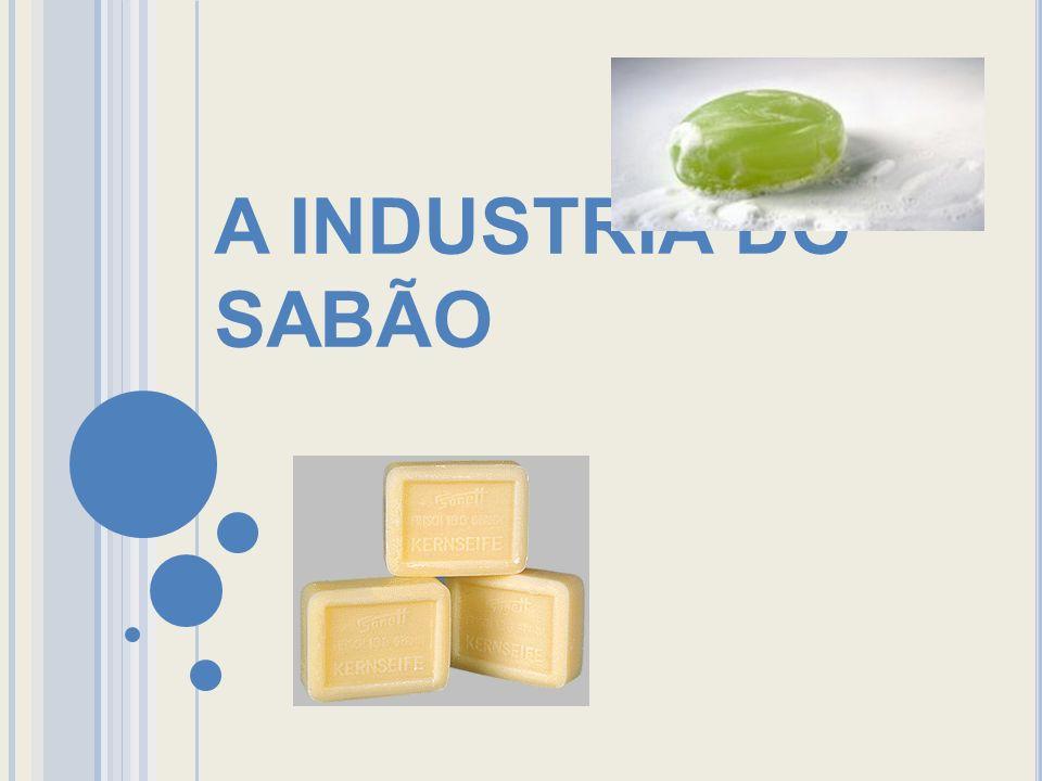 A INDUSTRIA DO SABÃO