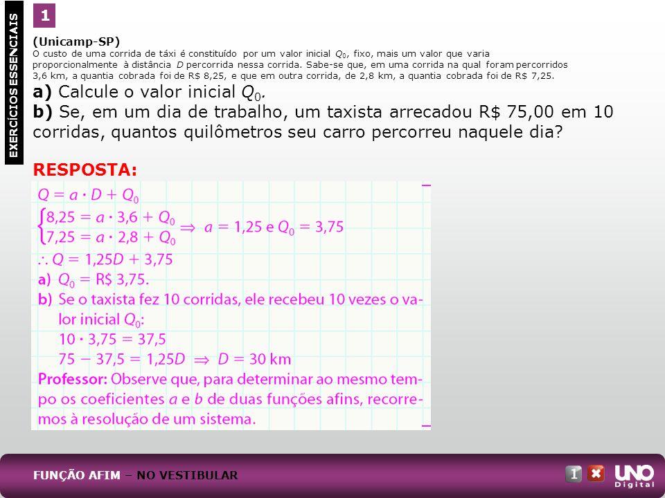 a) Calcule o valor inicial Q0.