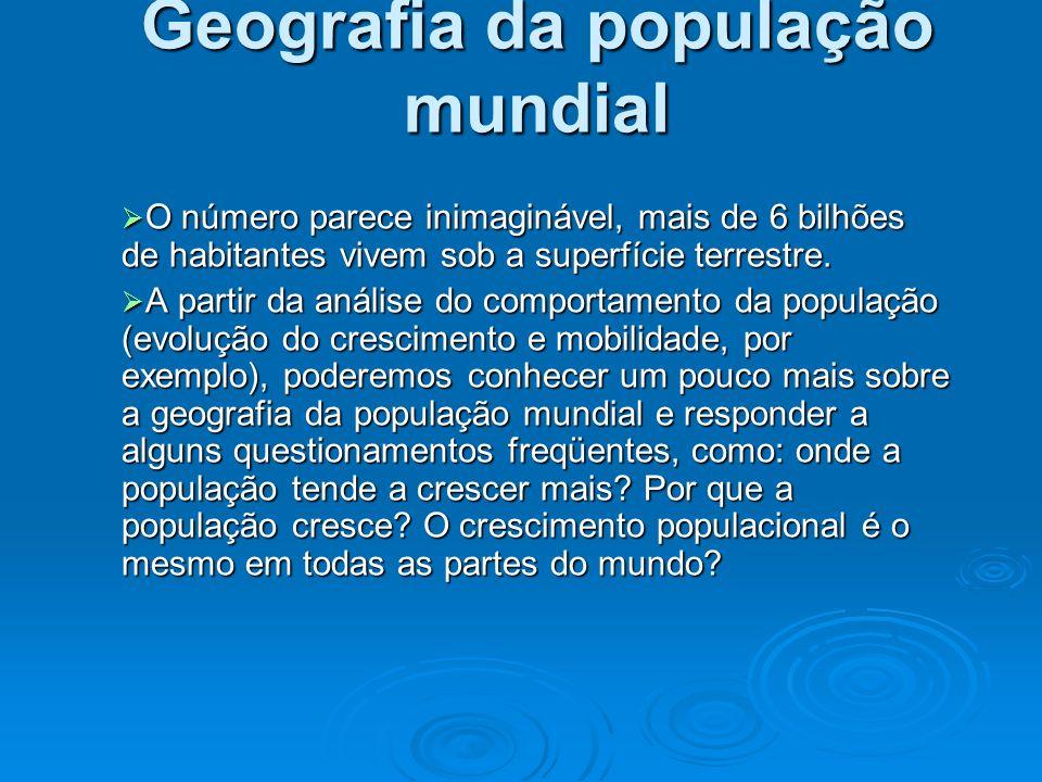 Geografia da população mundial