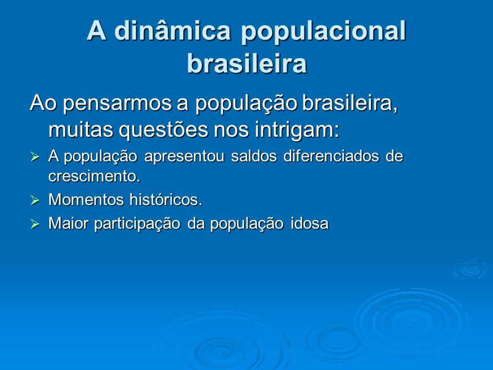 A dinâmica populacional brasileira
