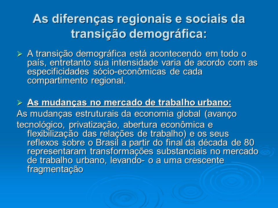 As diferenças regionais e sociais da transição demográfica: