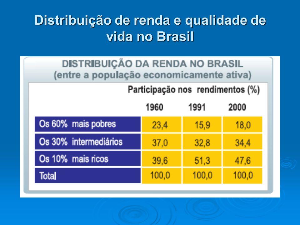 Distribuição de renda e qualidade de vida no Brasil