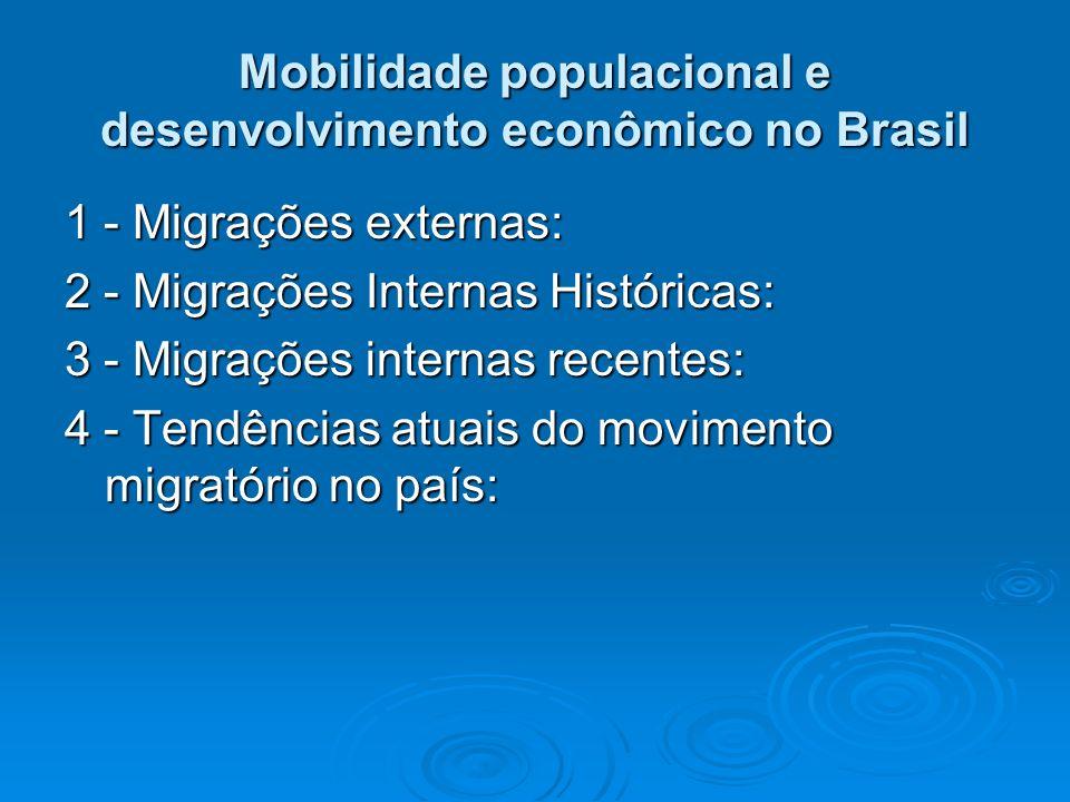 Mobilidade populacional e desenvolvimento econômico no Brasil